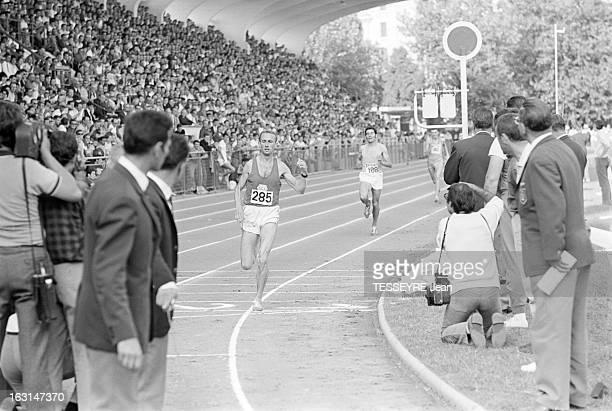 French Athletics Championships 1967 Stade YvesduManoir de Colombes 30 juillet 1967 Championnats de France d'Athletisme 1967 sur la piste au cours de...