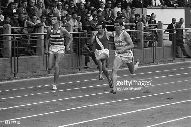 French Athletics Championships 1967 Stade YvesduManoir de Colombes 30 juillet 1967 Championnats de France d'Athletisme 1967 athlètes hommes lors...