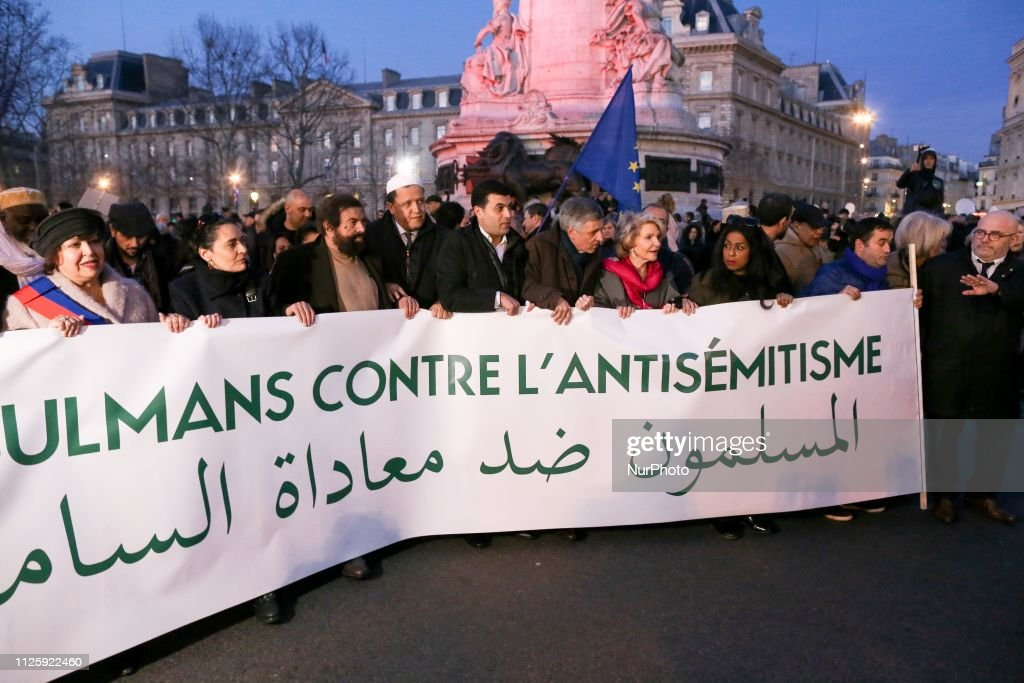 Rally Against Antisemitism In Paris : News Photo
