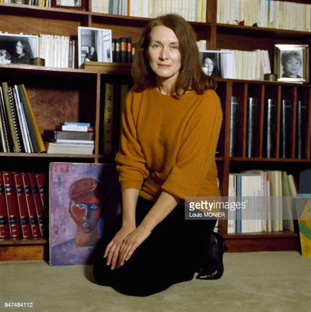 French author Annie Ernaux at home January 1988