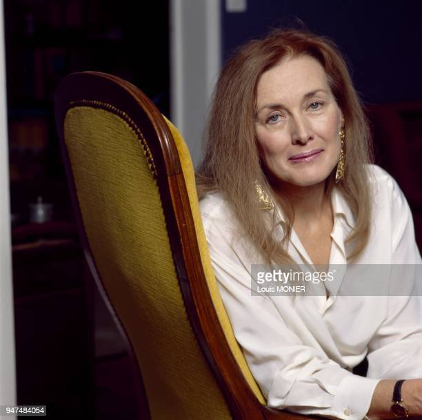 French author Annie Ernaux at home June 1992