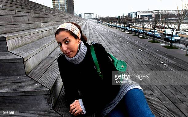 French author Faiza Guene poses at the National Library in Paris France on Friday Feb 9 2007