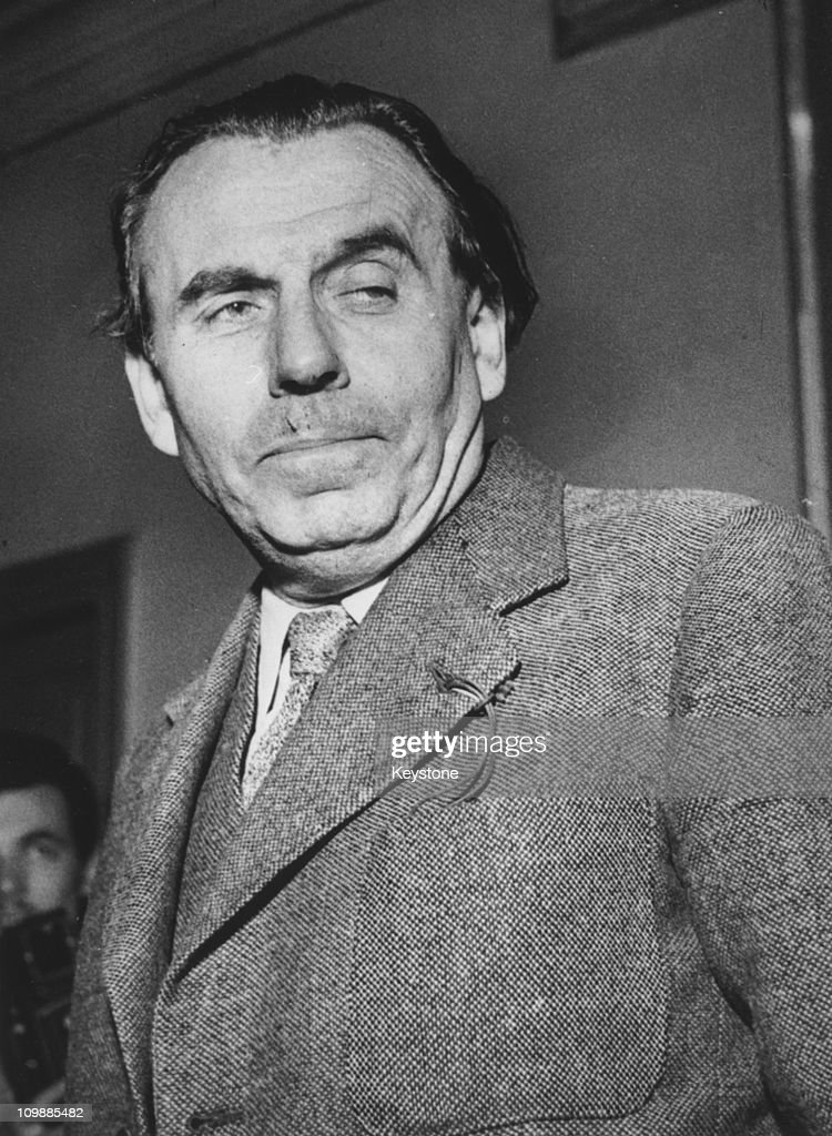 French Author Louis Ferdinand Celine At A Court In Paris