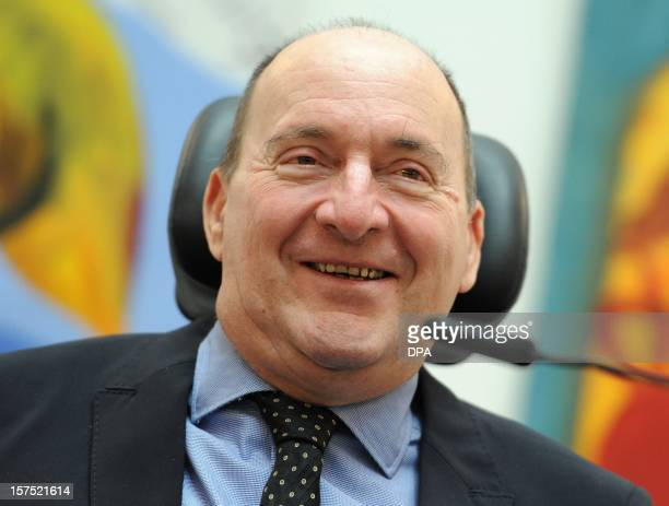 French author Philippe Pozzo di Borgo addresses a press conference as he presents his book A Second Wind in Berlin on December 4 2012 AFP PHOTO /...