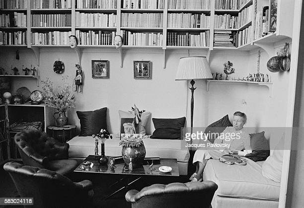 French author Simon de Beauvoir in her Parisian apartment Simone de Beauvoir is renowned for her book 'The Second Sex'