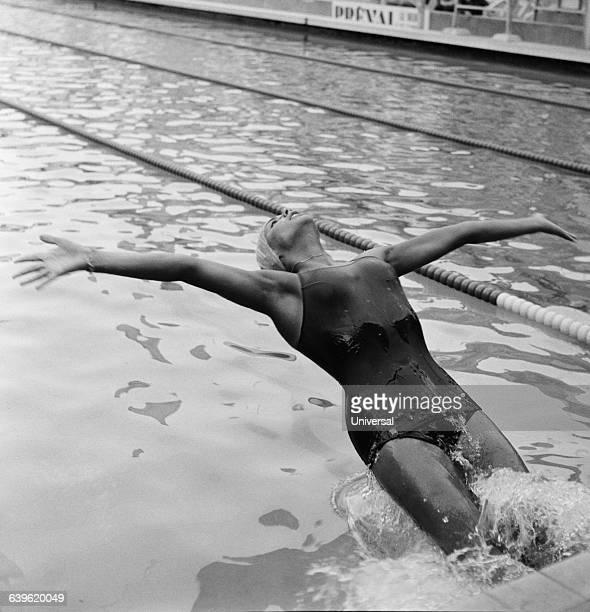 French backstroke swimmer Christine Kiki Caron