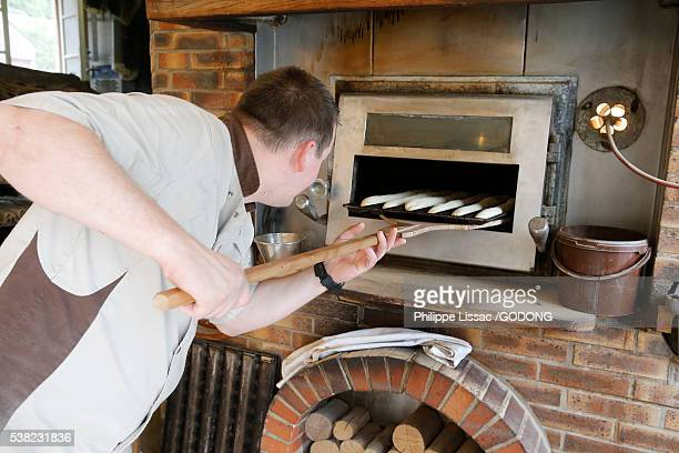 French baker at work.