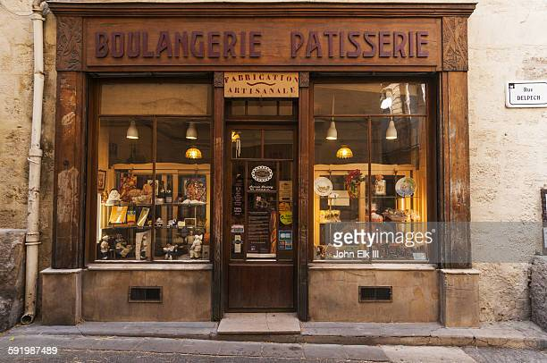 french bakery facade - french culture stock pictures, royalty-free photos & images