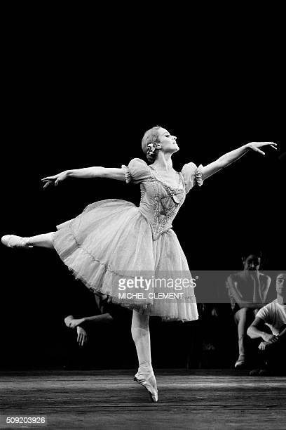 """French ballerina Violette Verdy performs in """"Giselle"""" in Paris on October 27, 1972. Violette Verdy, dancer, choreographer and former director of the..."""