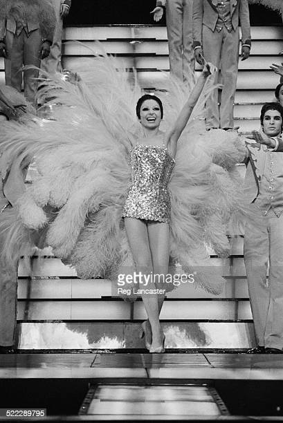 French ballet dancer Zizi Jeanmaire performing in a revue at the Casino de Paris music hall Paris 28th February 1972