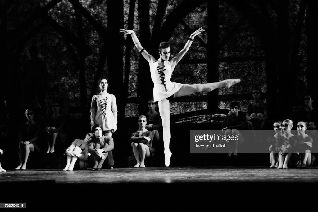 French ballet Notre Dame de Paris, directed by Roland Petit, performed at the Opera of Paris. Dancers include Roland Petit, Claire Motte, and Jean-Pierre Bonnefous.