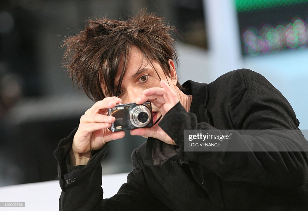 French band Indochine singer Nicola Sirkis attends the Canal+ TV show 'Le Grand Journal' at the 63rd Cannes Film Festival on May 19, 2010 in Cannes.