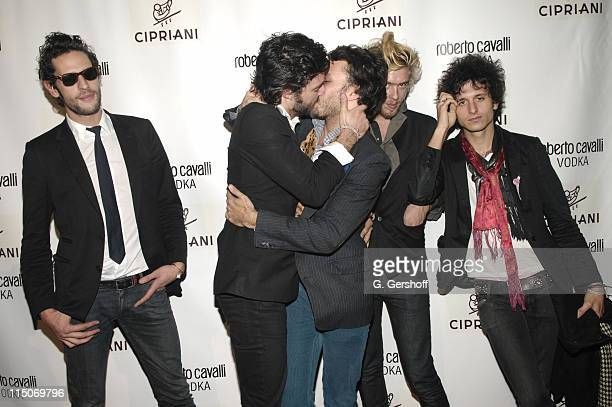 French band Rock N' Roll attend the Roberto Cavalli Vodka and Giuseppe Cipriani Halloween Party at Cipriani's 42nd Street on October 31 2007 in New...