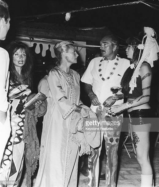 French bandleader producer and record executive Eddie Barclay hosts a psychedelic party at St Tropez August 1967