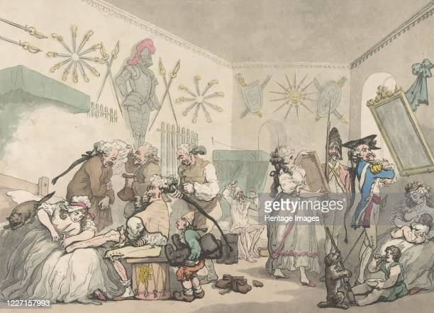 French Barracks August 12 1791 Artist Thomas Rowlandson Thomas Malton II