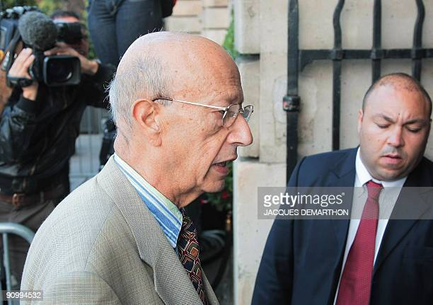 French Bernard Rey , President of French Renault F1 team, arrives at FIA headquarters in Paris on September 21, 2009 for an hearing at the World...