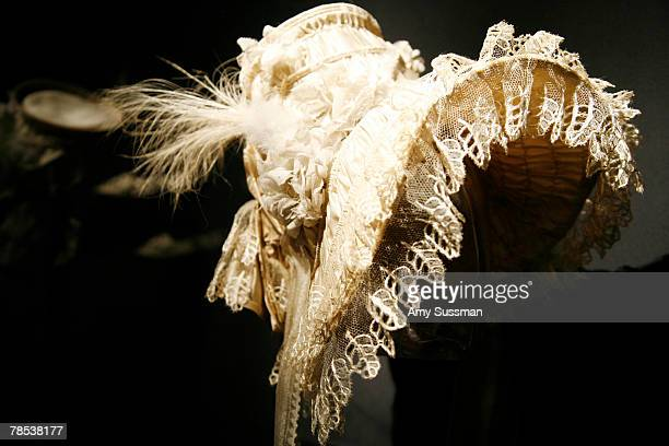 French Bonnet 183035 is displayed at the Blogmode addressing fashion exhibit at the Metropolitan Museum of Art's Costume Institute on December 17...
