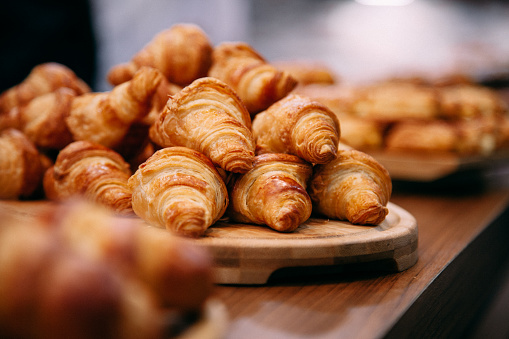 French Boulangerie - fresh croissant for sale 629455902