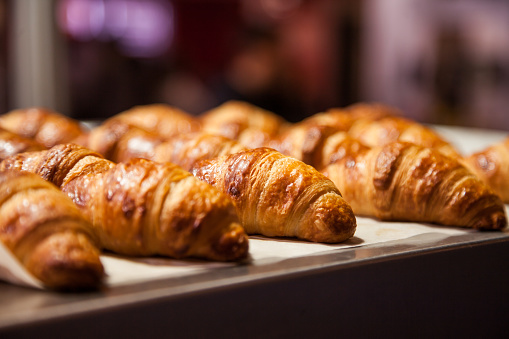 French Boulangerie - fresh croissant for sale 641680052