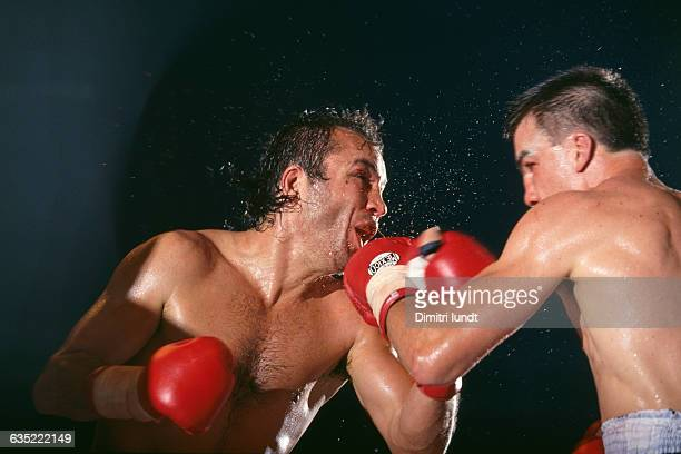 French boxer Christophe Tiozzo fights Australia's Jeff Harding for the WBC light heavyweight world title