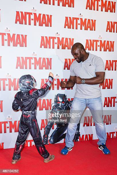 French boxer JeanMarc Mormeck attends the 'AntMan' premiere at Le Grand Rex on July 9 2015 in Paris France