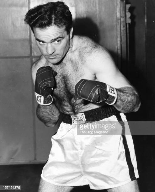 French boxer Marcel Cerdan poses for a portrait