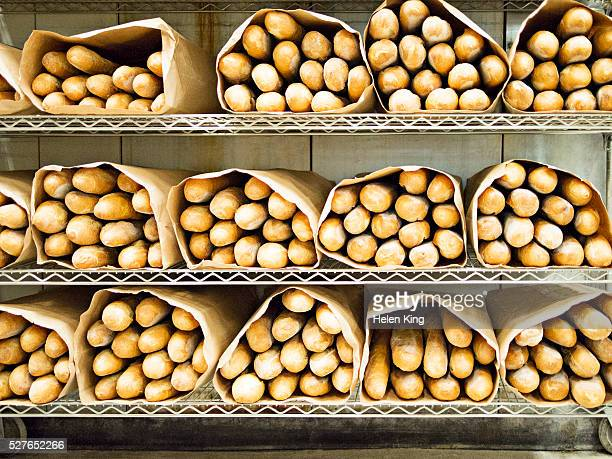 French bread ready for delivery