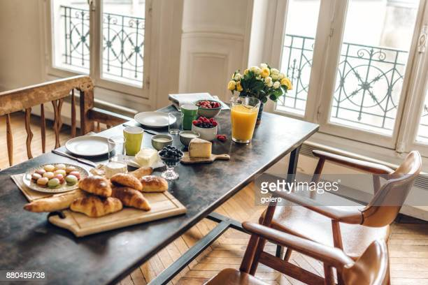 french breakfast table in Paris
