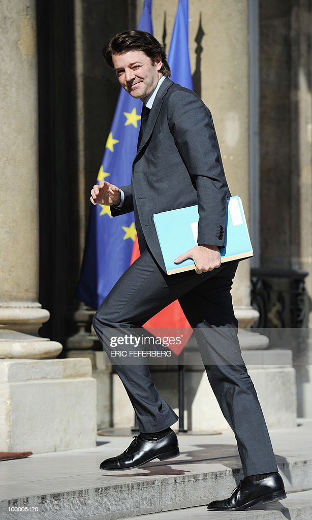 French Budget minister Francois Baroin arrives at the Elysee Palace on May 20, 2010 in Paris to attend a second meeting on public deficit with French President Nicolas Sarkozy. France reopened its 2010 budget to add in the 111 billion euros it has promised to contribute to Europe's new 750-billion-euro emergency stability fund, Finance Minister Christine Lagarde said yesterday.