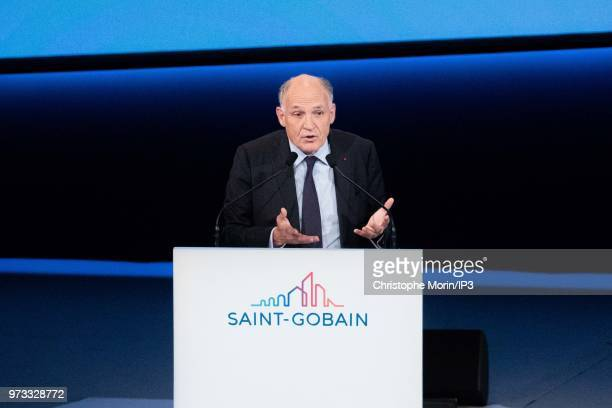 French building materials giant SaintGobain Chairman and Chief Executive Officer Pierre Andre de Chalendar speaks during the group's general meeting...