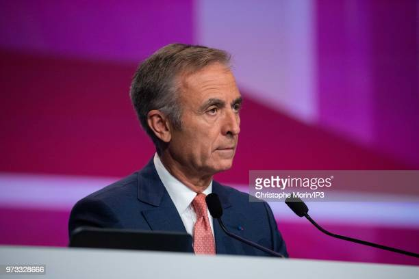 French building materials giant SaintGobain Chief Operating Officer Claude Imauven attends the group's general meeting on June 7 2018 in Paris France...