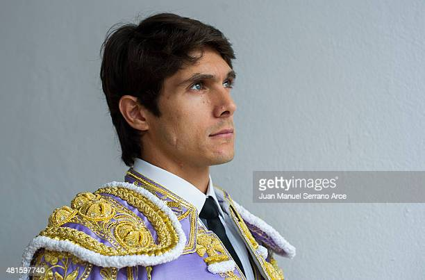 French bullfighter Sebastian Castella looks on before a bullfight as part of the Feria Santiago in a bullfight on July 22 2015 in Santander Spain