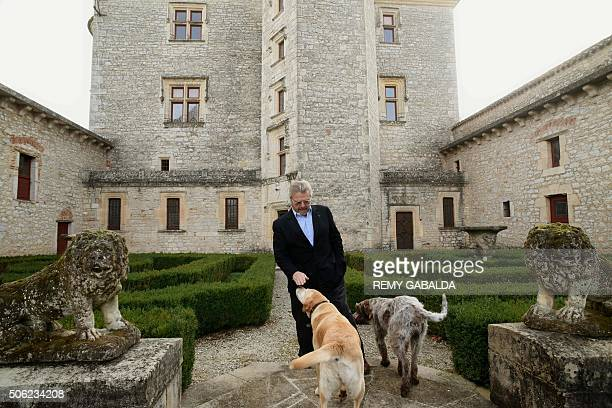 French businessman AlainDominique Perrin poses in front the castle of Lagrezette in Caillac southwestern France on November 17 2015 Once with a bad...