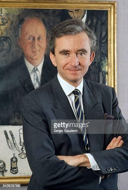 French businessman Bernard Arnault President of the LVMH group