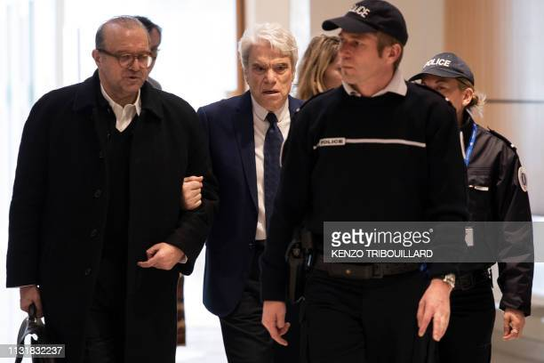 TOPSHOT French businessman Bernard Tapie accused of defrauding the state of nearly half a billion euros with a massive 2008 arbitration award arrives...