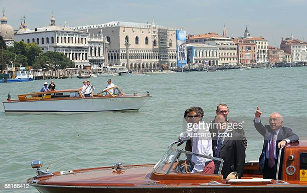French businessman Francois Pinault arrives at the Punta della Dogana in Venice for the opening of his new museum on June 3 2009 Pinault who...