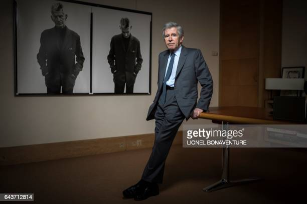 French businessman political advisor and author Alain Minc is pictured during a photo session on February 22 2017 in his office in Paris / AFP /...