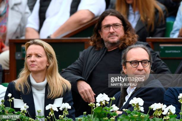 French businessperson Delphine Arnault French CEO of website Venteprivee JacquesAntoine Granjon and French founder of Iliad Xavier Niel attend the...