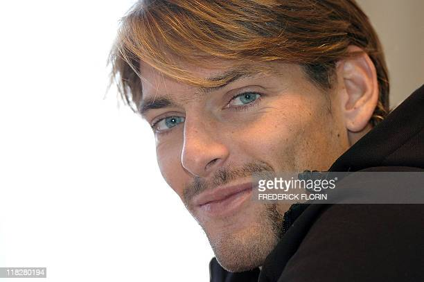 a9538afee78a French Camille Lacourt answers journalists during a press conference in  Strasbourg before the French championship of