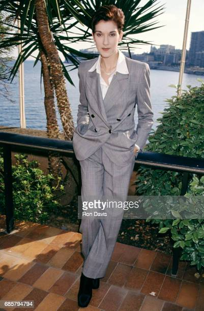 French Canadian singer and businesswoman Celine Dion poses for a portrait at the 1995 World Music Awards on May 3 1995 in Monte Carlo Monaco