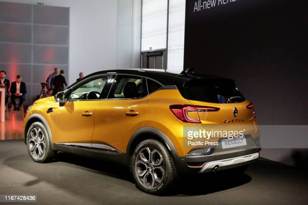 French car manufacturer Renault presented the subcompact crossover SUV Captur at a press conference at the 2019 Internationale Automobil-Ausstellung .