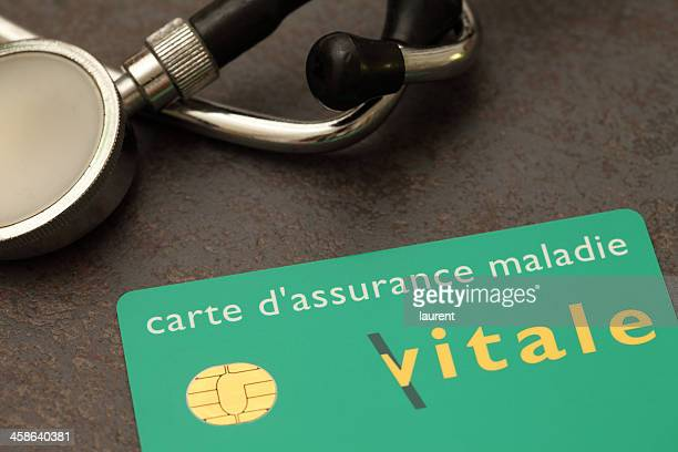 french carte vitale (social security card) - french culture stock pictures, royalty-free photos & images