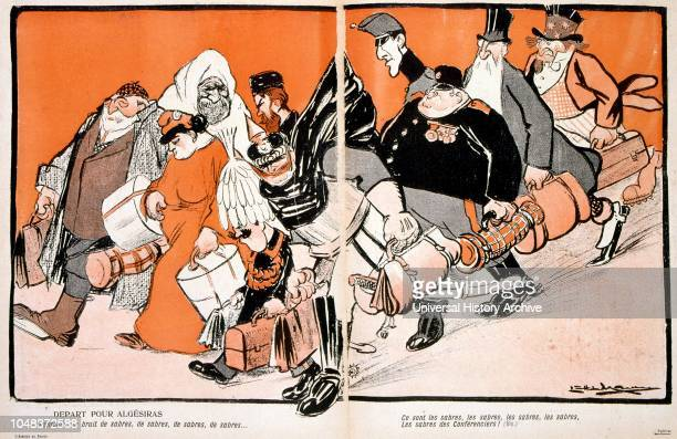 French cartoon depicting events surrounding diplomatic efforts to convene the Algeciras Conference of 1906 took place in Algeciras Spain and lasted...