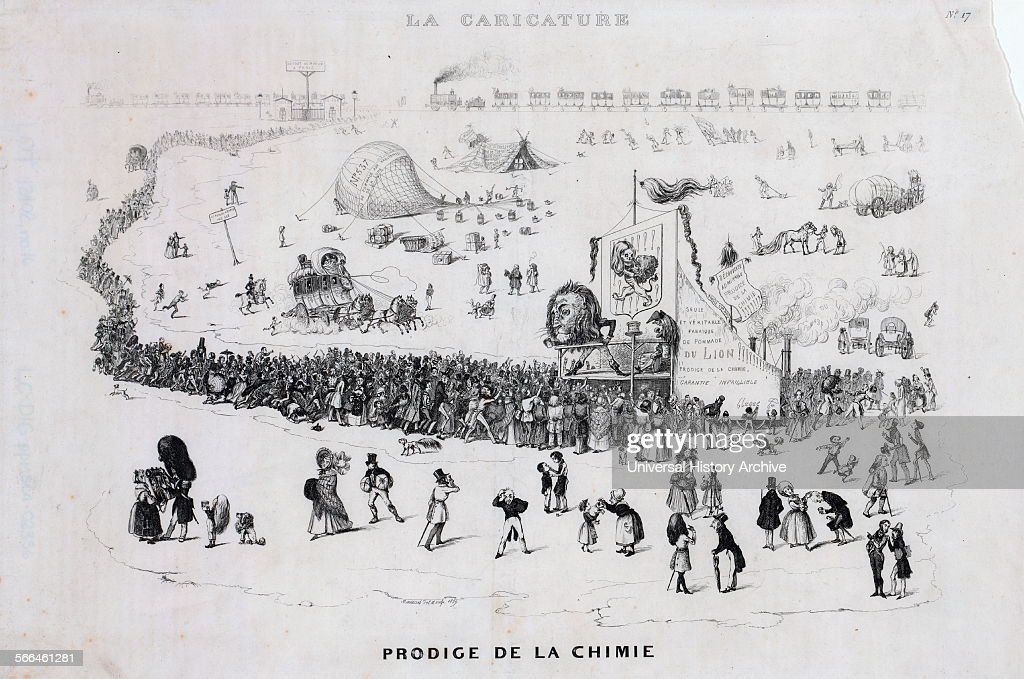 French Cartoon Shows A Long Line Of People With More Arriving By