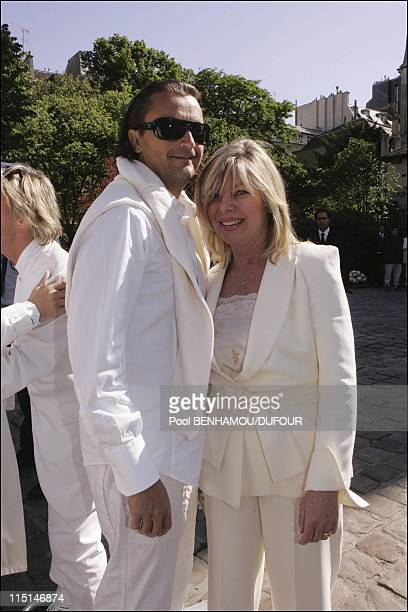 French celebrities pay last tribute to music producer Eddie Barclay at St Germain des Pres Church in Paris France on May 18 2005 Henri Leconte and...