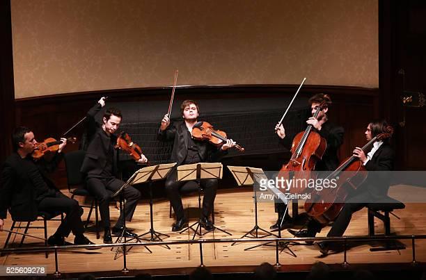 French cellist Gautier Capucon joins Quatuor Ebene with Pierre Colombet on violin Gabriel Le Magadure on violin Adrien Boisseau on viola and Raphael...