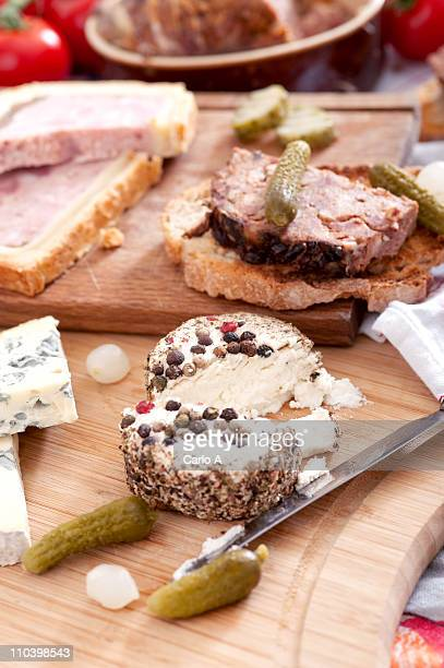 french charcuterie - charcuterie board stock pictures, royalty-free photos & images