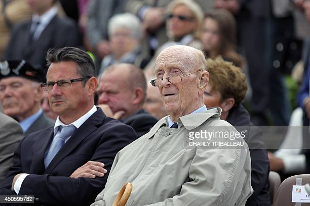French Charles Leclerc de Hauteclocque son of late General Philippe Leclerc de Hauteclocque attends a ceremony in honor of General Charles de Gaulle...