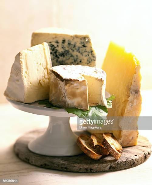 french cheese assortment - kaasplank stockfoto's en -beelden