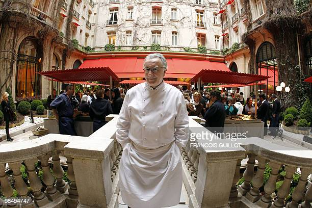 ROSEMBERG French chef Alain Ducasse poses on April 13 2010 at the Plaza Athenee hotel in Paris Butchers dairyfarmers fruitgrowers and fishermen star...